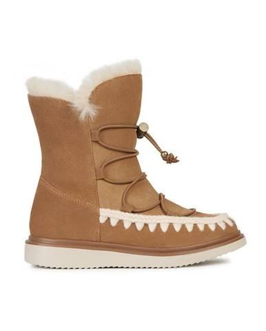 Hnedé zimná obuv Geox