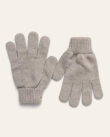 Sivé rukavice Guess Jeans