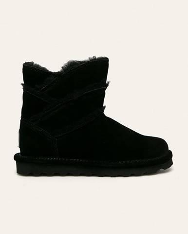 Čierne zimná obuv Bearpaw