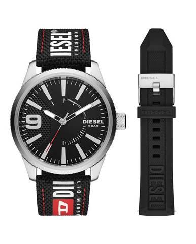 Strieborné hodinky Diesel