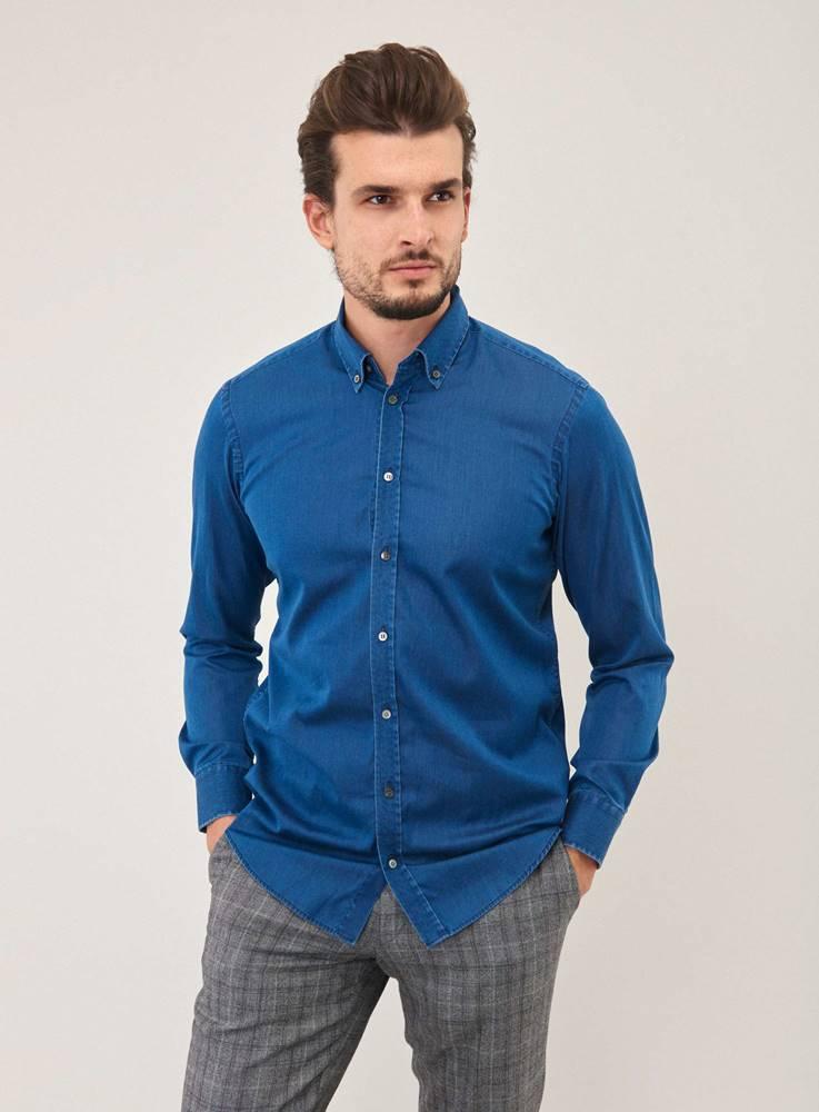 Pánska džínsová košeľa