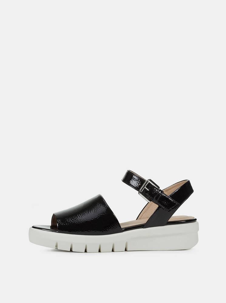 Geox Čierne dámske sandále na platforme Geox Wimbley