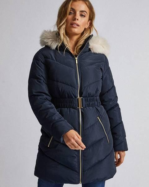 Tmavomodrý kabát Dorothy Perkins Petite