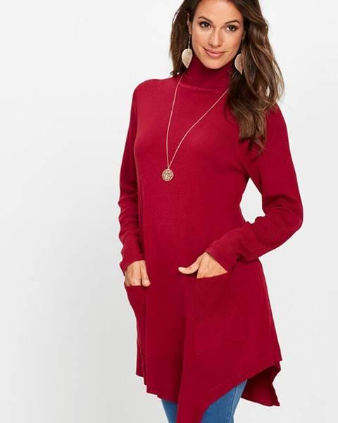 Červený pulóver bonprix