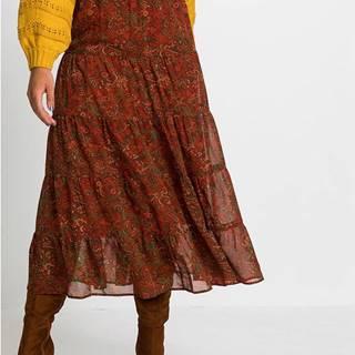 Maxi sukňa s paisley vzorom