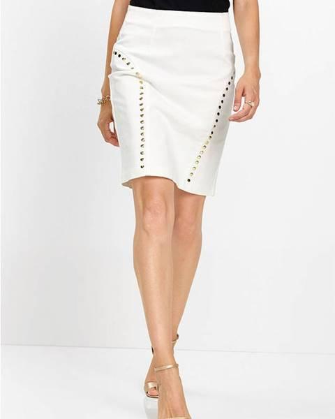 Biela sukňa bonprix