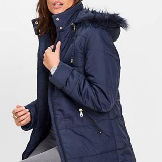 Prešívaná bunda s umelou kožušinkou