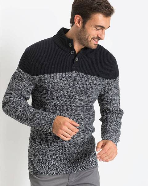 Čierny sveter bonprix
