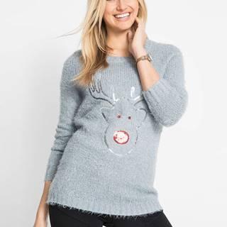 Vianočný pulóver s flitrami