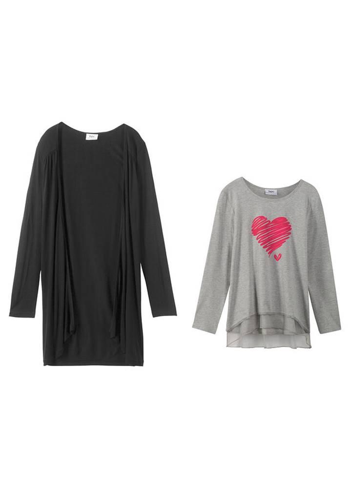 Tričko + úpletový sveter (2...