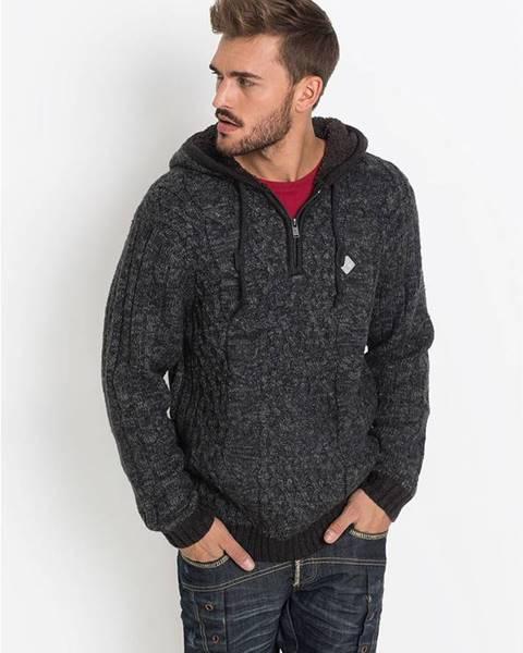 Sivý sveter bonprix
