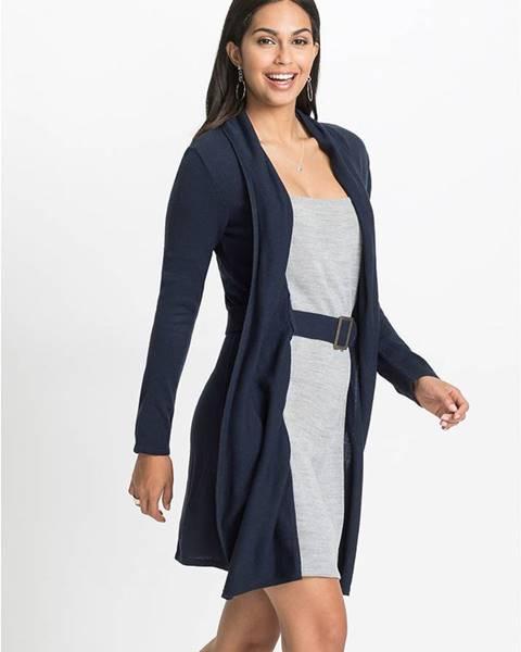 Modré pletené šaty bonprix