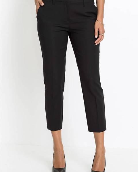 Čierne elegantné nohavice bonprix