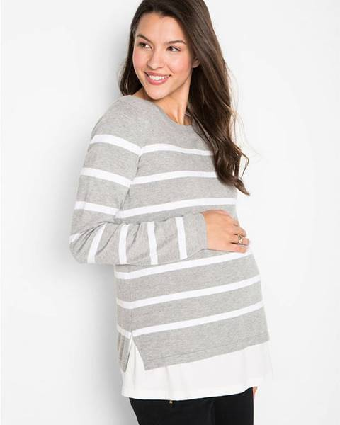 Sivý pulóver bonprix