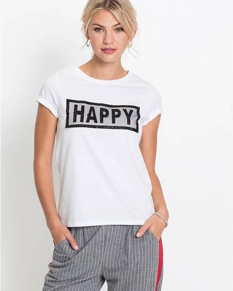 Biele tričko bonprix