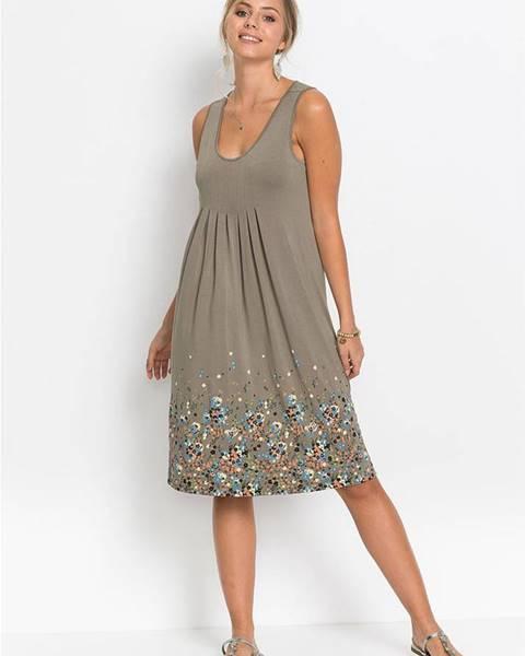 Sivé šaty bonprix