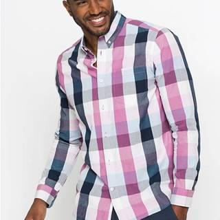 Károvaná košeľa s dlhým rukávom