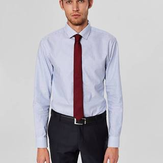 Svetlomodrá pruhovaná slim fit košeľa Selected Homme Mark