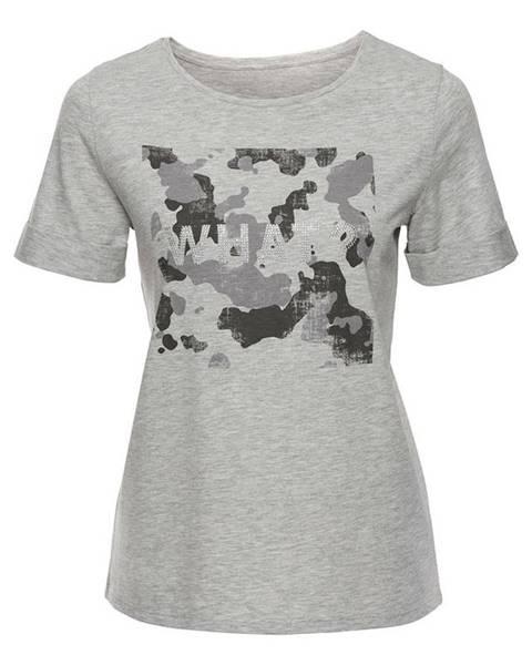 Sivé tričko bonprix