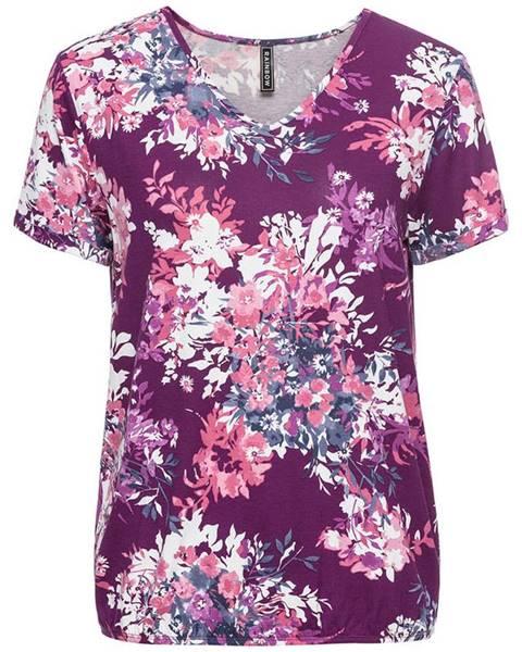 Fialové tričko bonprix