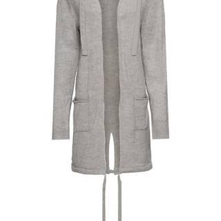 Pletený sveter s vreckami a kapucňou