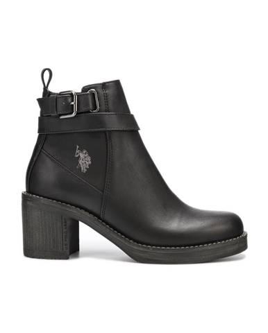 Čierne členková obuv U.S. Polo Assn