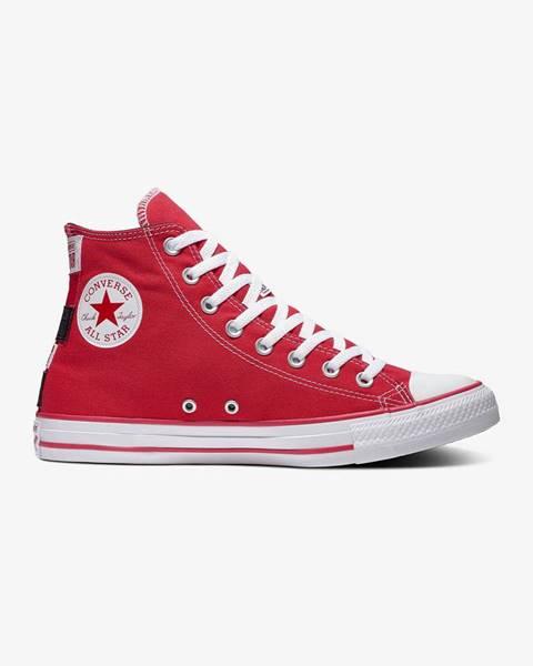 Červené topánky Converse