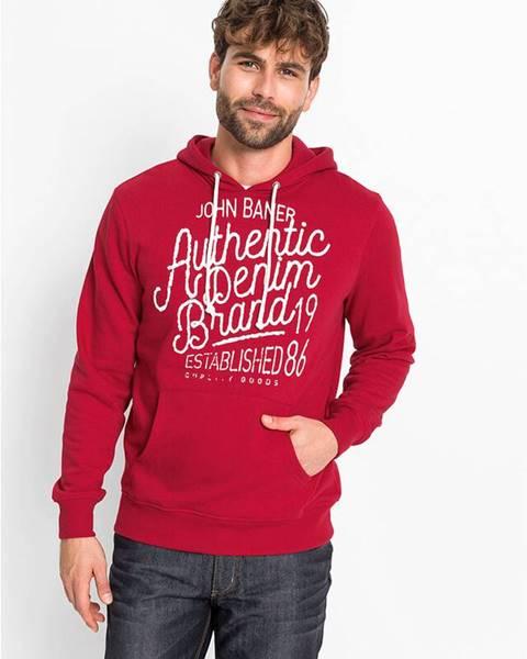 Červená bunda s kapucňou bonprix