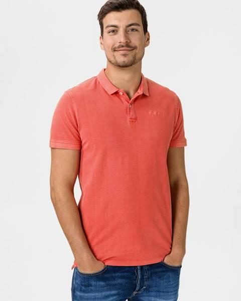 Červené tričko Pepe jeans