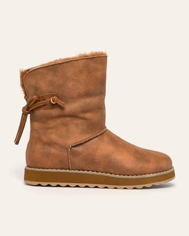 Hnedé zimná obuv Skechers