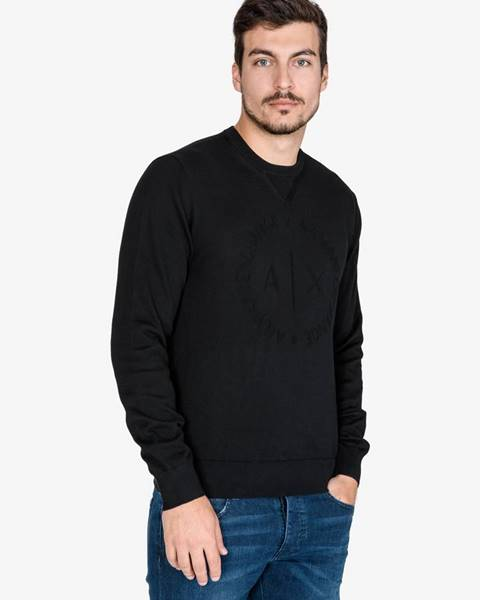 Čierny sveter Armani Exchange