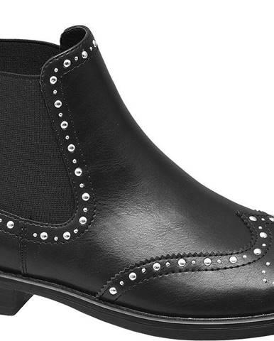 Čierne členková obuv Graceland