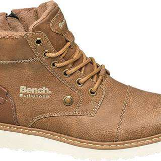 Bench - Hnedá členková obuv so zipsom Bench