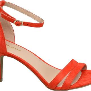 Graceland - Oranžové sandále na podpätku Graceland