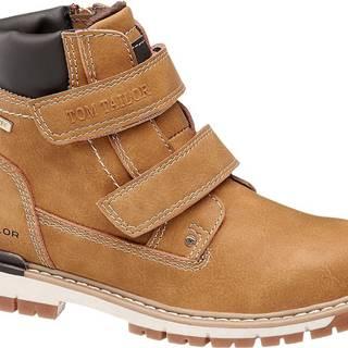 Tom Tailor - Hnedá členková obuv so zipsom Tom Tailor s TEX membránou