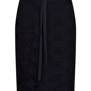 Dámska puzdrová sukňa s čipkou