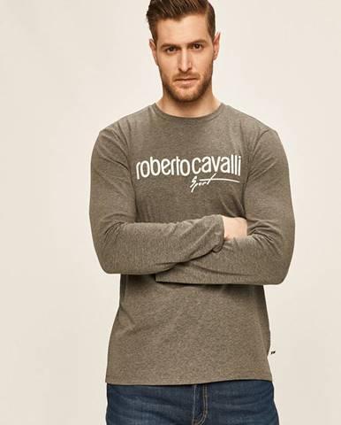 Sivé tričko Roberto Cavalli Sport