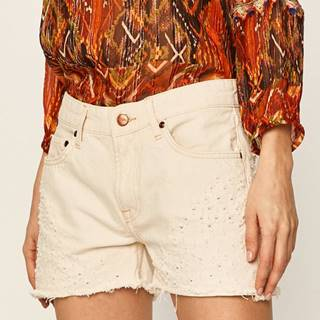 Pepe Jeans - Rifľové krátke nohavice Mable