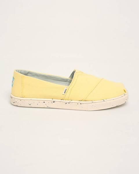 Žlté espadrilky TOMS
