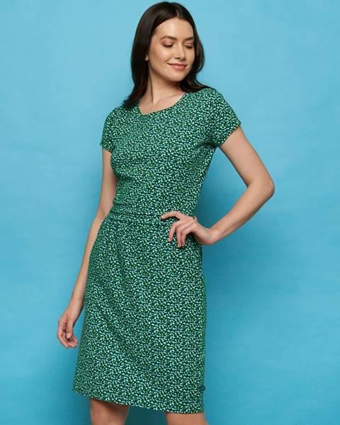 Tmavozelené šaty Tranquillo