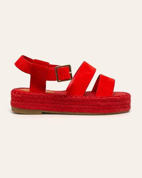 Oranžové sandále Answear
