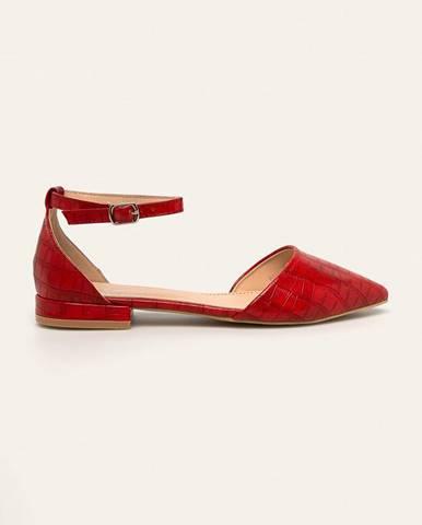 Červené balerínky Answear