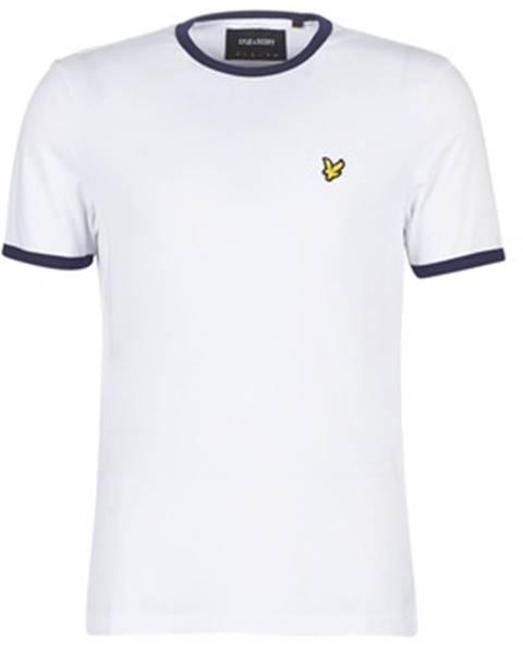 Biele tričko Lyle   Scott