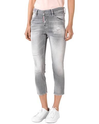 Sivé roztrhané nohavice DSQUARED2