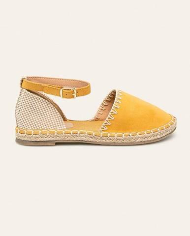 Žlté espadrilky Answear