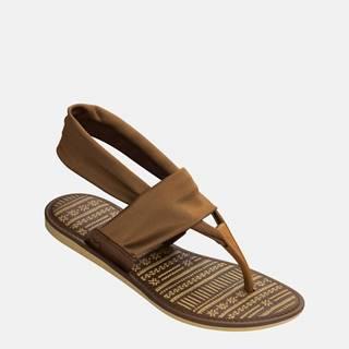 Hnedé dámske sandále Zaxy