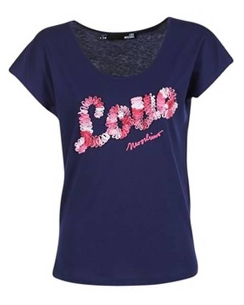 Modré tričko Love Moschino