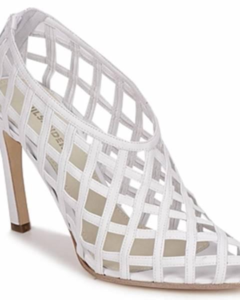 Biele sandále Jil Sander