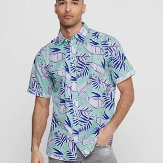 Svetlomodrá vzorovaná košeľa ONLY & SONS