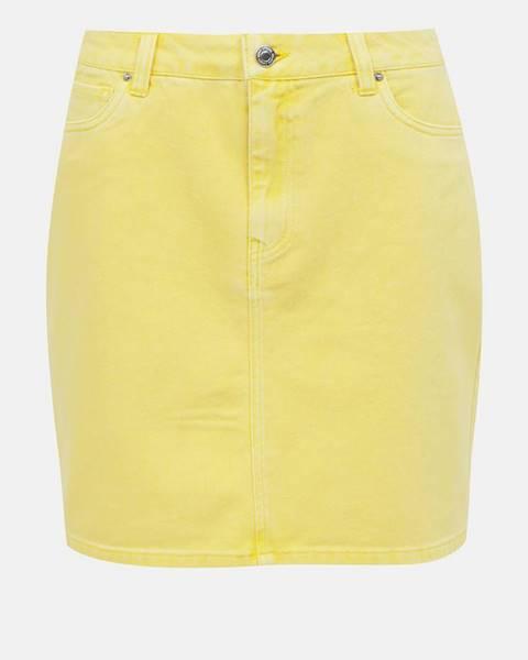Žltá sukňa Vero Moda